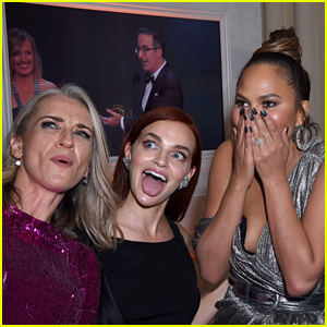 Chrissy Teigen Meets 'Handmaid's Tale' Stars at Hulu's Emmys Party!
