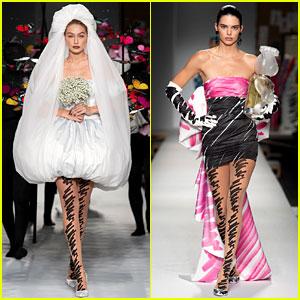 Gigi Hadid is a Beautiful Bride in Moschino's Milan Fashion Week Show