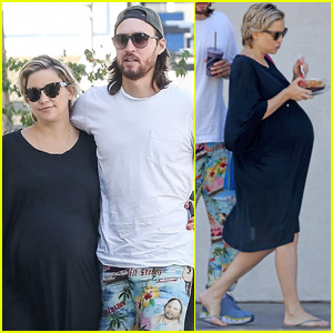 Kate Hudson Shows Off Her Baby Bump During Lunch Date With Danny Fujikawa