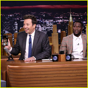Kevin Hart FaceTimes Dwayne Johnson While Co-Hosting 'The Tonight Show' - Watch!