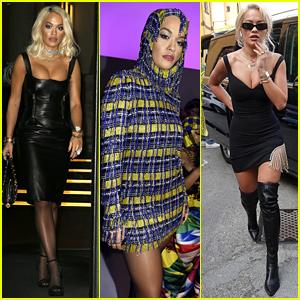 Rita Ora Rocked So Many Chic Looks During Milan Fashion Week