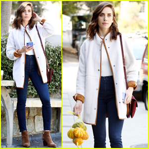 Alison Brie Gets into the Halloween Spirit in Los Angeles!
