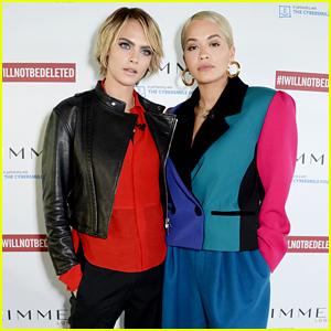 Rita Ora & Cara Delevingne Team Up to Fight Cyberbullying