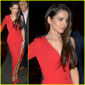 Cheryl Cole Is the Lady in Red for Night Out in London