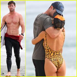Chris Hemsworth Bares His Chiseled Shirtless Body, Shares Sweet Kiss with Elsa Pataky!