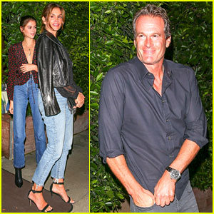 Cindy Crawford & Kaia Gerber Are Pretty in Polka Dots for Dinner With Rande Gerber