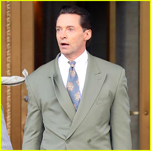 Hugh Jackman Looks Shocked on the Set of 'Bad Education' in NYC!