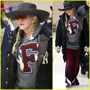 Madonna Keeps a Low Profile For Flight Out of NYC