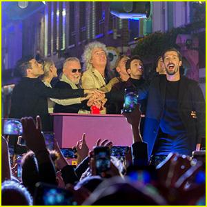 Rami Malek Joins Queen & 'Bohemian Rhapsody' Cast for Carnaby Street Lighting Ceremony!