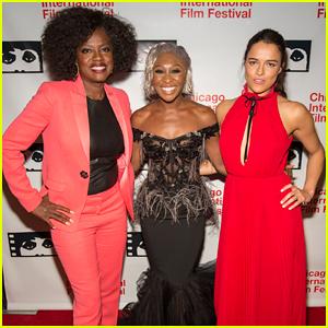 Viola Davis, Cynthia Erivo & Michelle Rodriguez Are 'Widows' at Chicago Premiere!