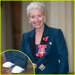 Emma Thompson Defends Wearing White Sneakers to Become Dame at Buckingham Palace