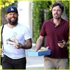 Casey Affleck Grabs Lunch with a Friend During a Casual Outing