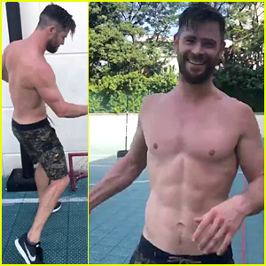 Chris Hemsworth Bares His Ripped Body in Shirtless Videos!