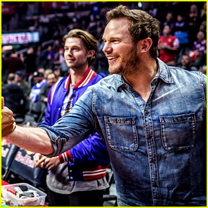 Chris Pratt Bonds with His Girlfriend's Brother at Clippers Game!