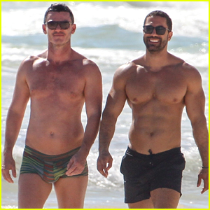 Luke Evans & His Beau Pack on PDA, Bare Their Chiseled Bodies in Latest Photos!