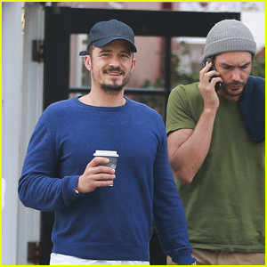 Orlando Bloom Grabs Coffee with a Pal in Brentwood