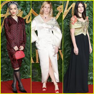Rita Ora, Ellie Goulding & Lana Del Rey Get Glam for The Fashion Awards 2018