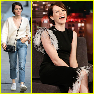 Claire Foy Tells 'Kimmel' She Avoids Watching Herself On Screen