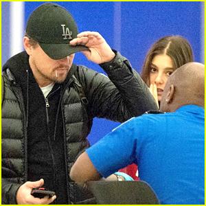 Leonardo DiCaprio & Camila Morrone Land at JFK Airport in NYC