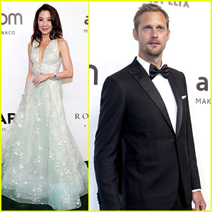 Alexander Skarsgard, Michelle Yeoh, & More Attend amfAR's Hong Kong Gala