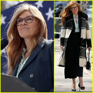 Connie Britton Supports Senator Kirsten Gillibrand at Rally in NYC!