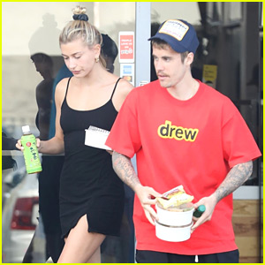 Justin Bieber Picks Up Saturday Lunch To-Go with Wife Hailey