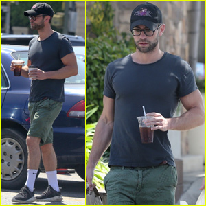 Chace Crawford Makes a Grocery Run With a Pal in LA