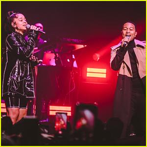 John Legend Surprises Ella Mai's Fans at L.A. Concert!