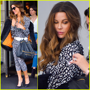 Kate Beckinsale is All Smiles Jetting Out of NYC!