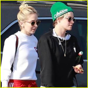 Kristen Stewart Stops By Nail Salon with Girlfriend Sara Dinkin