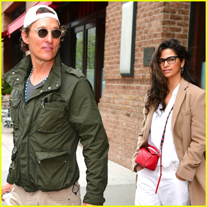 Matthew McConaughey & Wife Camila Alves Step Out for the Day in NYC