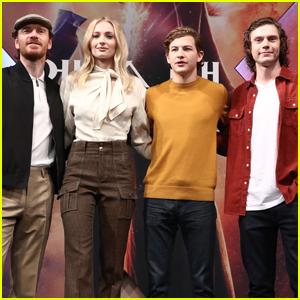 Michael Fassbender, Sophie Turner, Tye Sheridan, & Evan Peters Promote 'Dark Phoenix' in Seoul