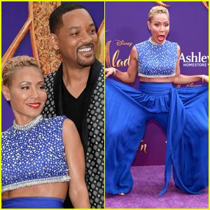 Jada Pinkett Smith Dresses as the Genie for Will Smith's 'Aladdin' Premiere