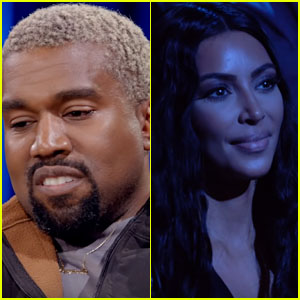 Kanye West Emotionally Remembers His Late Mother While Wife Kim Kardashian Shows Support in the Crowd - Watch!
