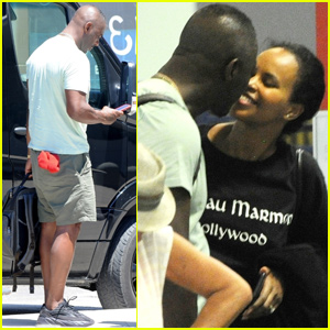Idris Elba & Wife Sabrina Show Some PDA While Leaving Ibiza