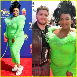 Lizzo Rocks Neon Green Outfit for MTV Movie & TV Awards 2019!
