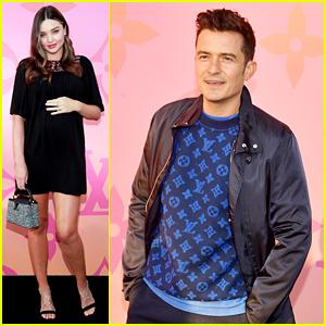 Friendly Exes Miranda Kerr & Orlando Blossom Go to Louis Vuitton Party