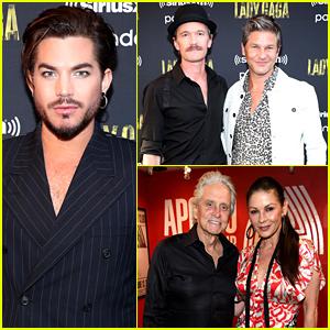 Neil Patrick Harris, Adam Lambert, & Catherine Zeta-Jones Step Out for Lady Gaga's Enigma Show at the Apollo