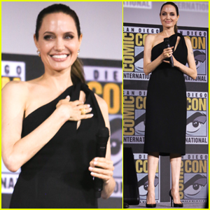 Angelina Jolie Surprises at Comic-Con to Announce New Marvel Movie!