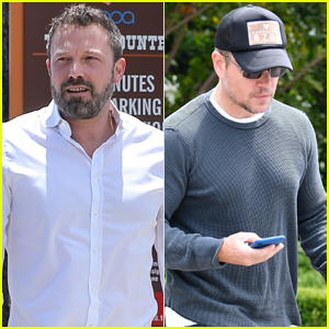 Ben Affleck & Matt Damon Step Out After Announcing New Movie!