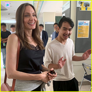 Angelina Jolie Drops Off Son Maddox at College in South Korea