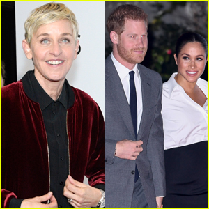 Ellen DeGeneres Defends Prince Harry & Meghan Markle Following Private Jet Criticism