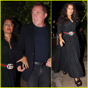 Salma Hayek & Husband Francois Henri Pinault Step Out on Date Night in Santa Monica