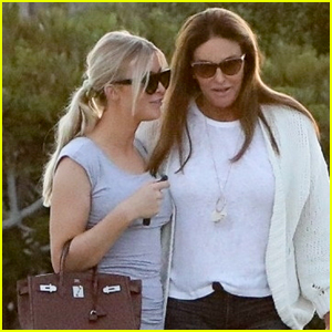 Caitlyn Jenner & Sophia Hutchins Keep Close Leaving Dinner in Malibu