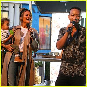 Chrissy Teigen & John Legend Bring Son Miles to Support Grandma Pepper Thai!
