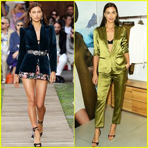 Irina Shayk Continues Milan Fashion Week on Etro Runway!