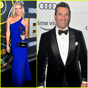 Lindsay Shookus & Jon Hamm Were Both at the Emmys After Their Broadway Date