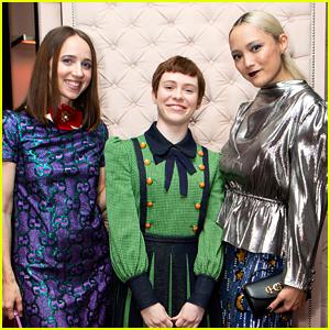 Zoe Kazan, Sophia Lillis & More Celebrate Gucci's Zumi Handbag Collection