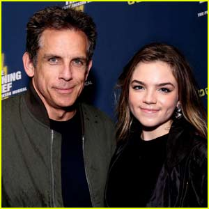 Ben Stiller Brings Daughter Ella to Opening Night of 'The Lightning Thief: The Percy Jackson Musical'!