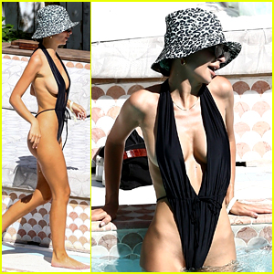 Emily Ratajkowski Wears a Barely There Swimsuit in Miami